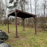 ALUSOLUTION - Pergola samonosná, imitace dřeva